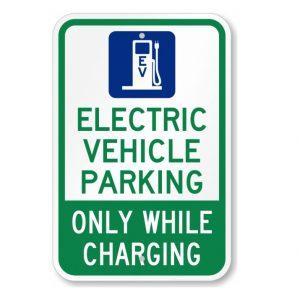 EV Parking Sign