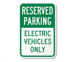 Electric Car Parking Sign