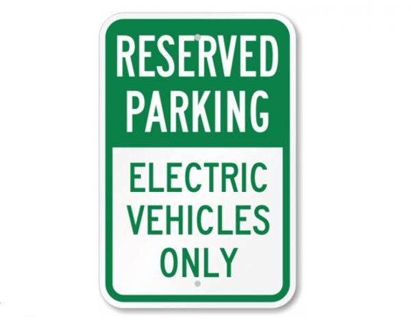 Electric Car Parking Sign