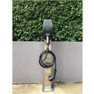 EV charger on post