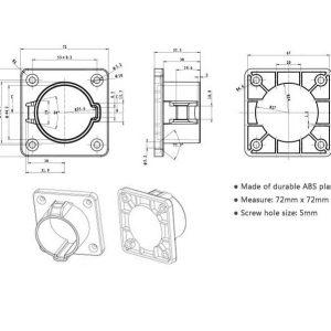j1772 plug holder drawings