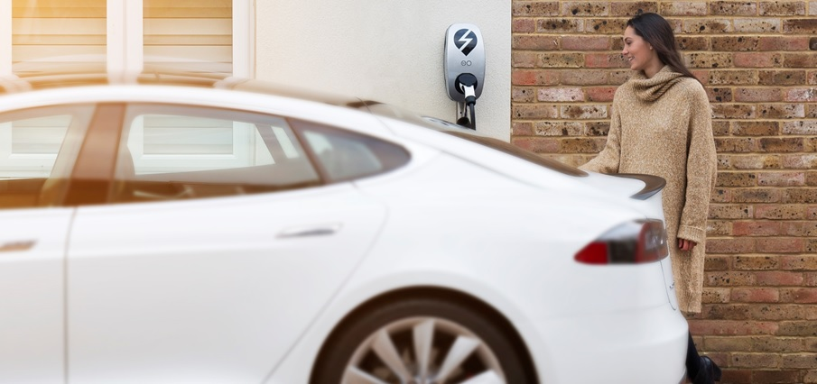 Go Green with an electric car charging station by EVSE