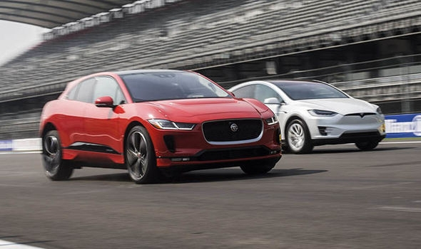Jaguar I-Pace Electric Vehicle charged and ready to take on the Tesla Model X