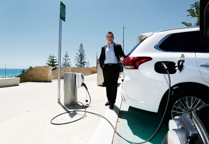 Visitors to Scarborough Beach can now charge up their electric cars