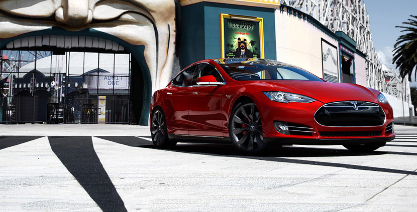 The Tesla Model S wins Best Car in the Carsales Car of The Year Awards 2015