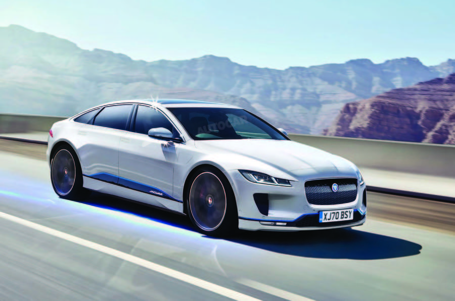 Jaguar's attempt to compete with Tesla Model S?