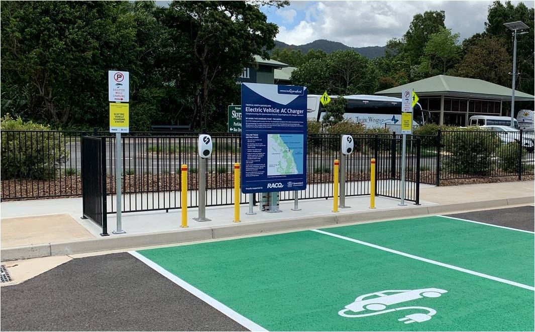 EVSE Australia makes history by powering up Australia's first Electric Vehicle Tourist Drive in North Queensland