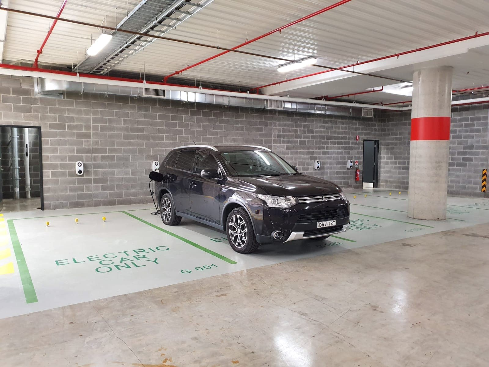 electric car parking chargers