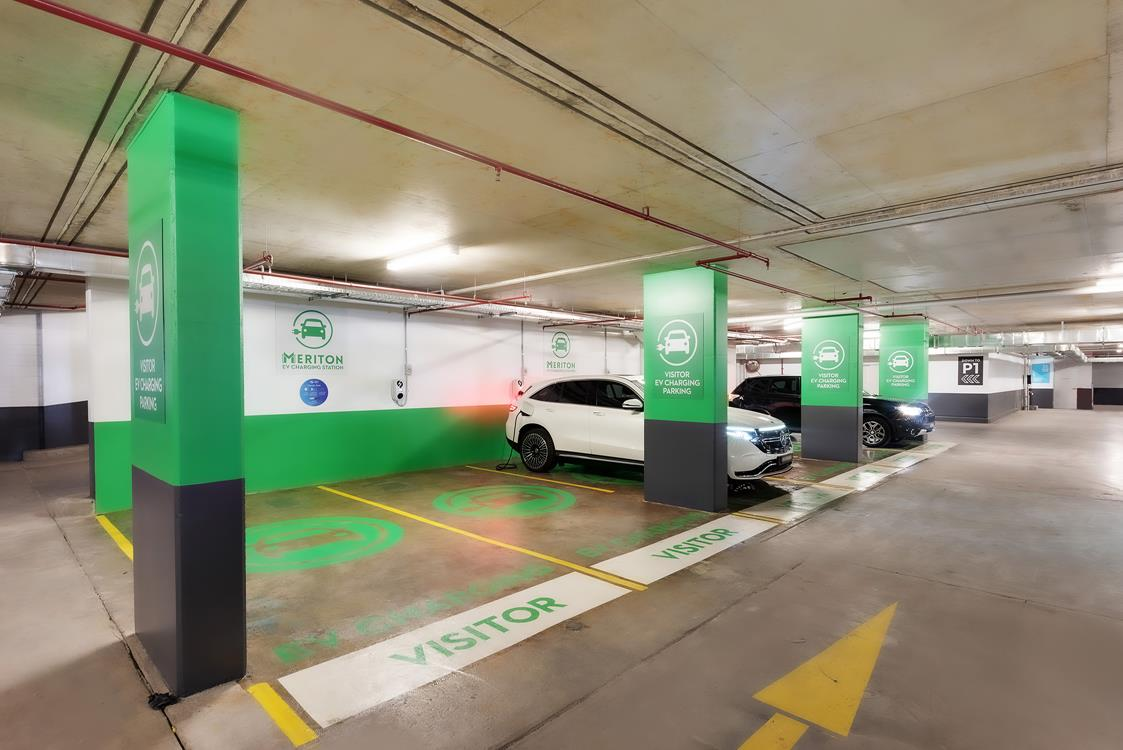 Electric car charger apartment