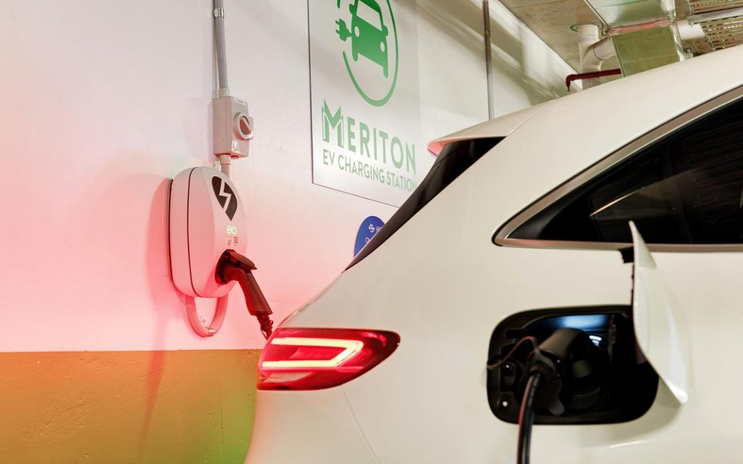 Meriton Group teams up with EVSE Australia to deliver another marketing leading Apartment EV Charging solution.