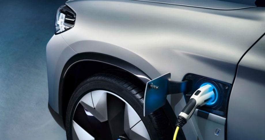BMW iX3 EV charging