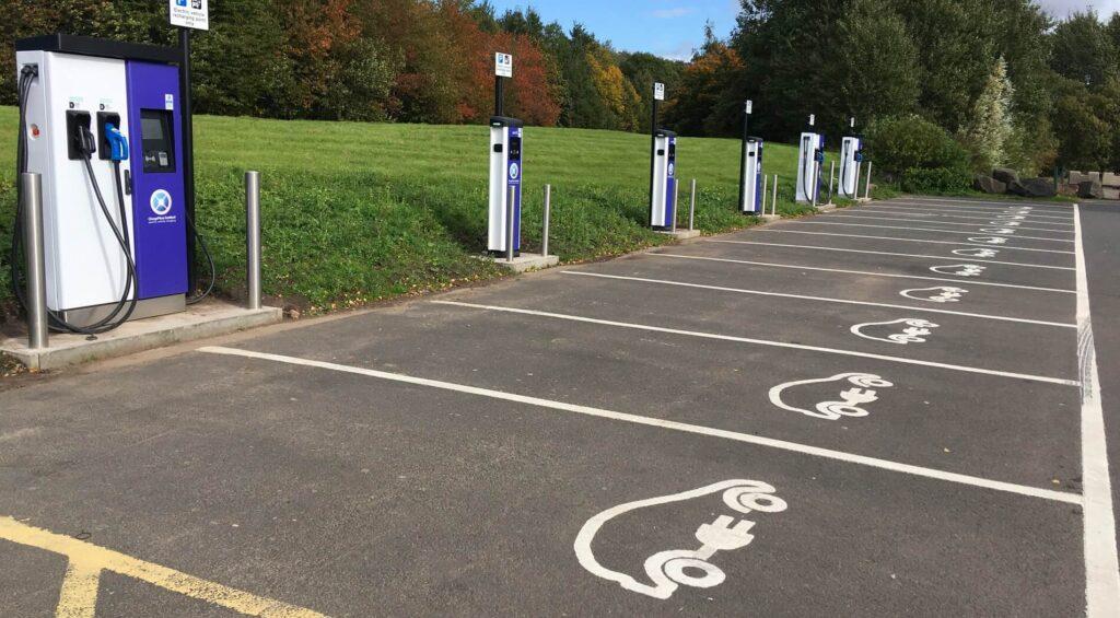 Mazda public charging station