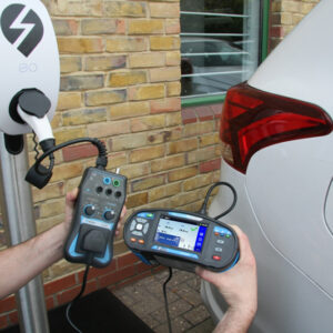 Mte1a Testing A Car Charging Unit With Evse Adapter And Multifunction Tester