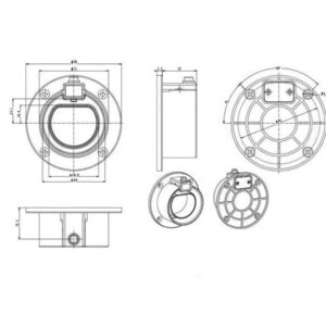 Iec 62196 Cable Holder Drawings